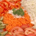 Zeleninová mísa se zálivkou